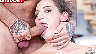 anal ass babe brunette deepthroat doggy-style fuck hardcore oral