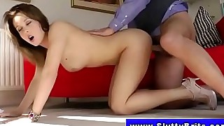 amateur ass babe blonde blowjob big-cock doggy-style high-heels juicy