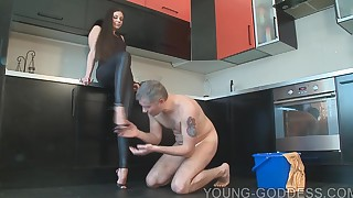 babe bdsm cute feet fetish handjob pov slave strapon