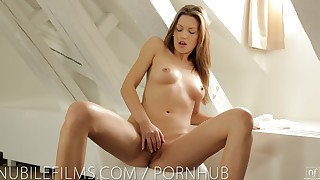 babe big-tits brunette busty fingering hd masturbation model natural