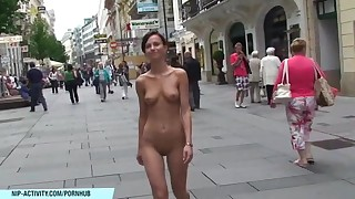 amateur brunette small-tits little nude public really shaved slender